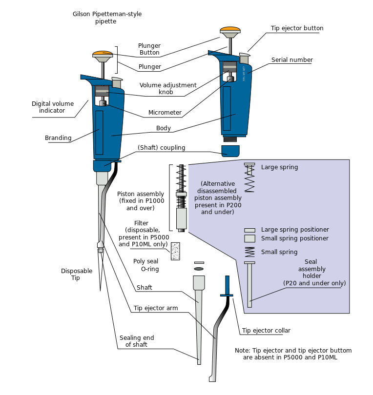 parts of micropipettes - how to use micropipettes - the use of micropipettes - micropipetting