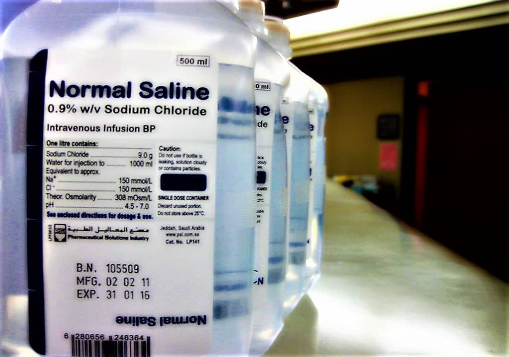 PREPARATION OF NORMAL SALINE SOLUTION