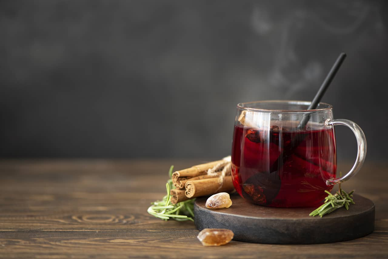drink herbal tea to relax and sleep better